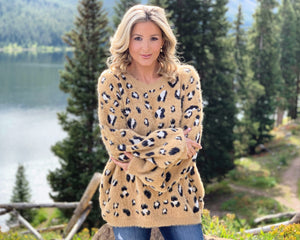 Oversized Softest Ever Leopard Sweater