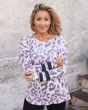 Lavender Leopard Long-Sleeve