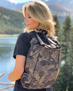 Puff Camo Slouch Backpack