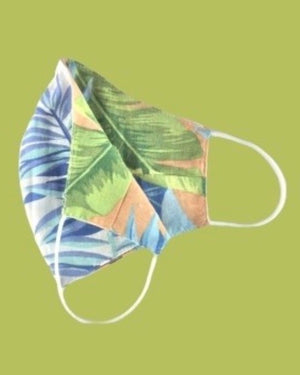 Pastel Palms Fashion Reversible & Reusable Woven Daily Face Cover