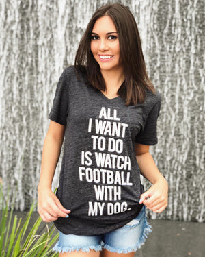 Football – All I Want To Do Is Watch Football With My Dog