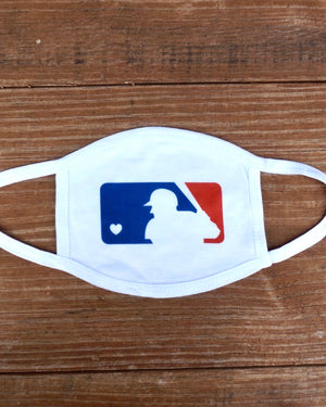 Live Love Baseball Basic Stretch Daily Face Cover