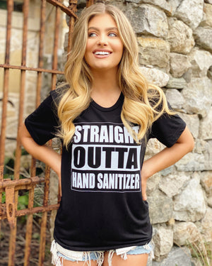 Straight Outta Hand Sanitizer Viscose Unisex Tee