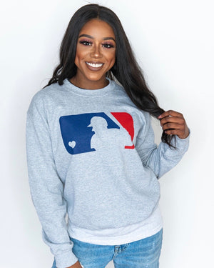 Live Love Baseball Comfy Sweatshirt