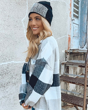 Black & Gray Plaid Shacket