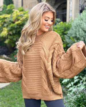 Hazelnut Oversized Chunky Sweater