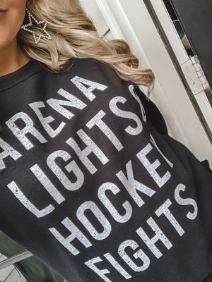 Arena Lights & Hockey Fights Sweatshirt - Live Love Gameday®