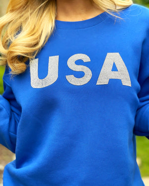 USA Crystal Royal Blue Pullover