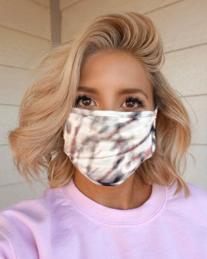 Black/Blush Tie-Dye Mask