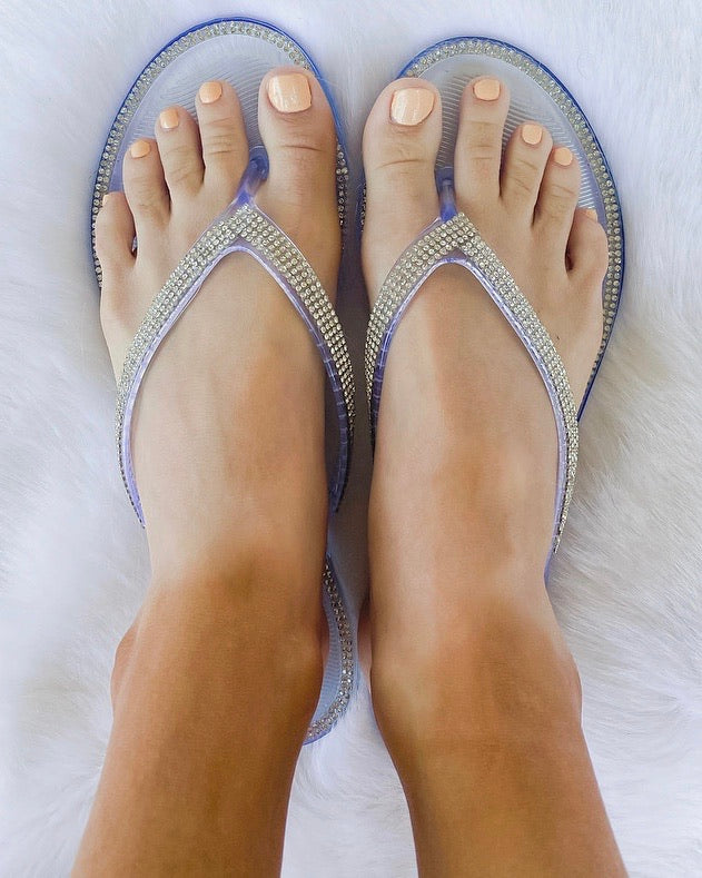 Clear Sparkle Jelly Sandals