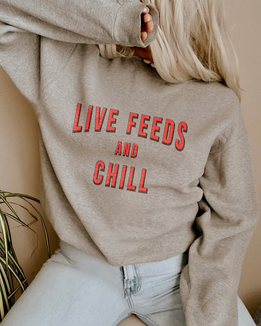Kat Dunn – Live Feeds And Chill – Comfy Unisex Sweatshirt