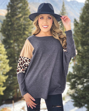 Metallic Copper Leopard Sweater (Regular & Plus Sizes Available)