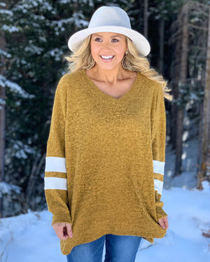 Deal Of The Day: Vintage Mustard Hacci Ribbed Oversized Sweater