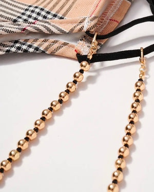 Metal Beaded Mask Lanyards