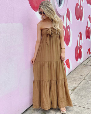 Tie-Front Maxi Dress (Bronze)