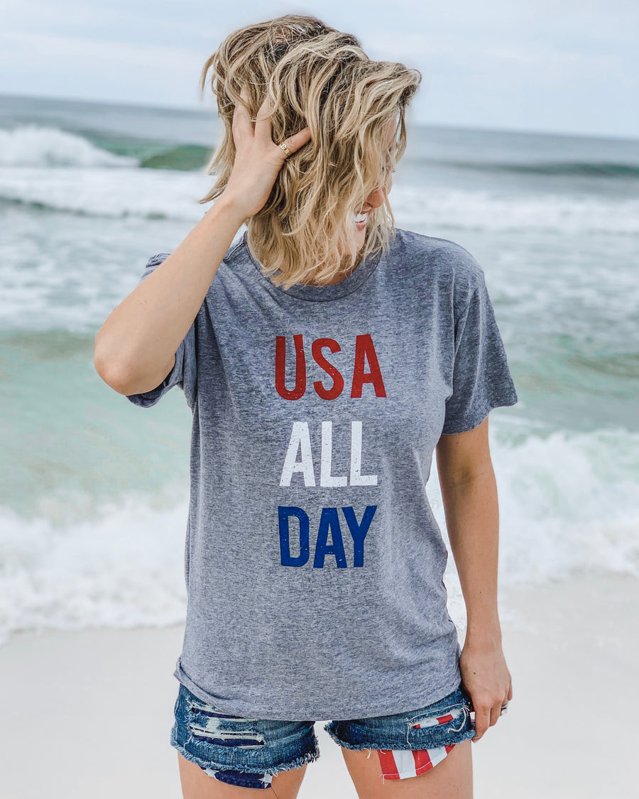 USA All Day Unisex Tee