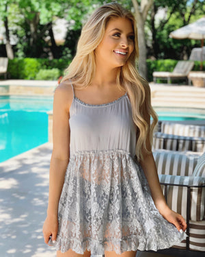 Sheer Lace Cami Tunic