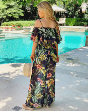 Two-Piece Tropical Pant Set