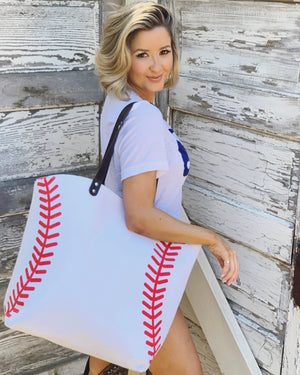 Large Baseball Tote Bag