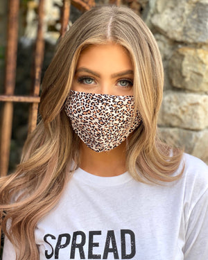 Light Animal Print Cotton Fitted Daily Face Cover