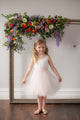 Duchess Gabrielle Pink Flower Girl Dress - Pink