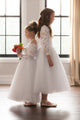 Duchess Alexia Flower Girl Dress - White