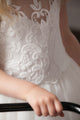 Duchess Scarlett Lace & Tulle Flower Girl Dress - Ivory