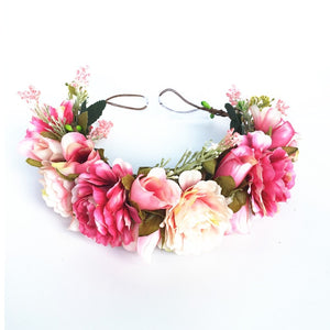 Bright Pink Vibrant Flower Headband