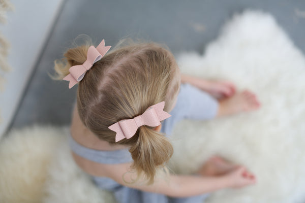 Pigtail Clips - Classic Bow