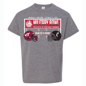 Military Bowl  Virginia Tech Vs. Cincinnati Youth Tee Shirt