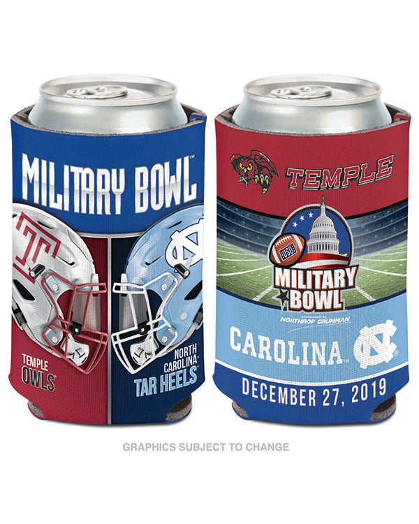 North Carolina Tar Heels V Temple Owls Military Bowl Can Cooler