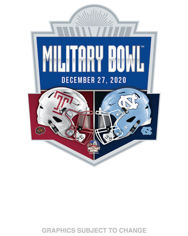 North Carolina Tar Heels V Temple Owls 2019 Military Bowl Lapel Pin