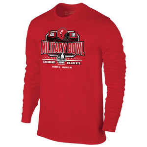 Military Bowl Cincinnati Long Sleeve The Victory Tee Shirt by Retro Brand