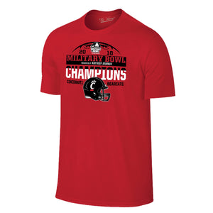 Military Bowl Champions Cincinnati Short Sleeve The Victory Tee Shirt by Retro Brand