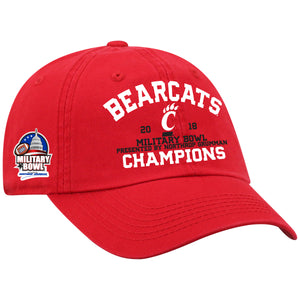 Cincinnati Bearcats Military Bowl Champion Top of the World Cap