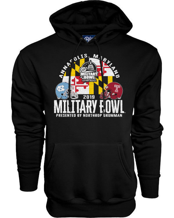 North Carolina Tar Heels V Temple Owls 2019 Military Bowl Men's Hoodie
