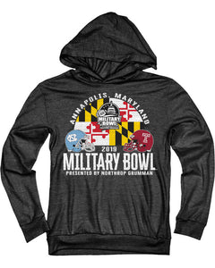 North Carolina Tar Heels V Temple Owls 2019 Military Bowl Youth Hoodie