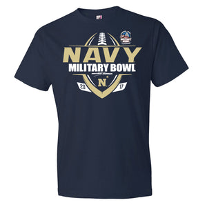 2017 Military Bowl Navy Men's Cotton Short Sleeve Tee