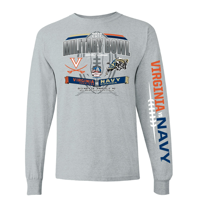 2017 Military Bowl Team-vs-Team Men's Cotton Long Sleeve Tee