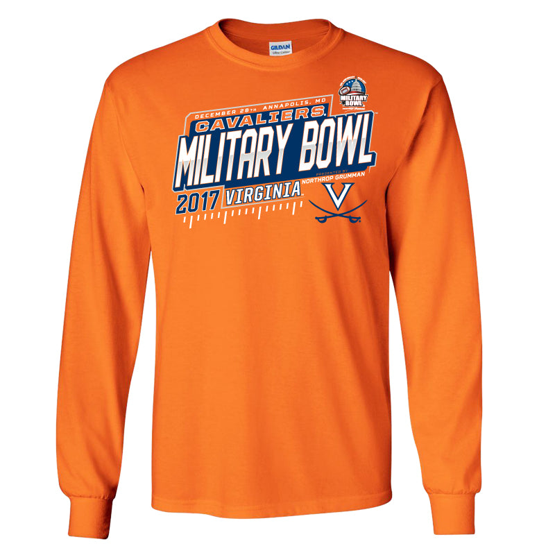 2017 Military Bowl Virginia Men's Cotton Long Sleeve Tee