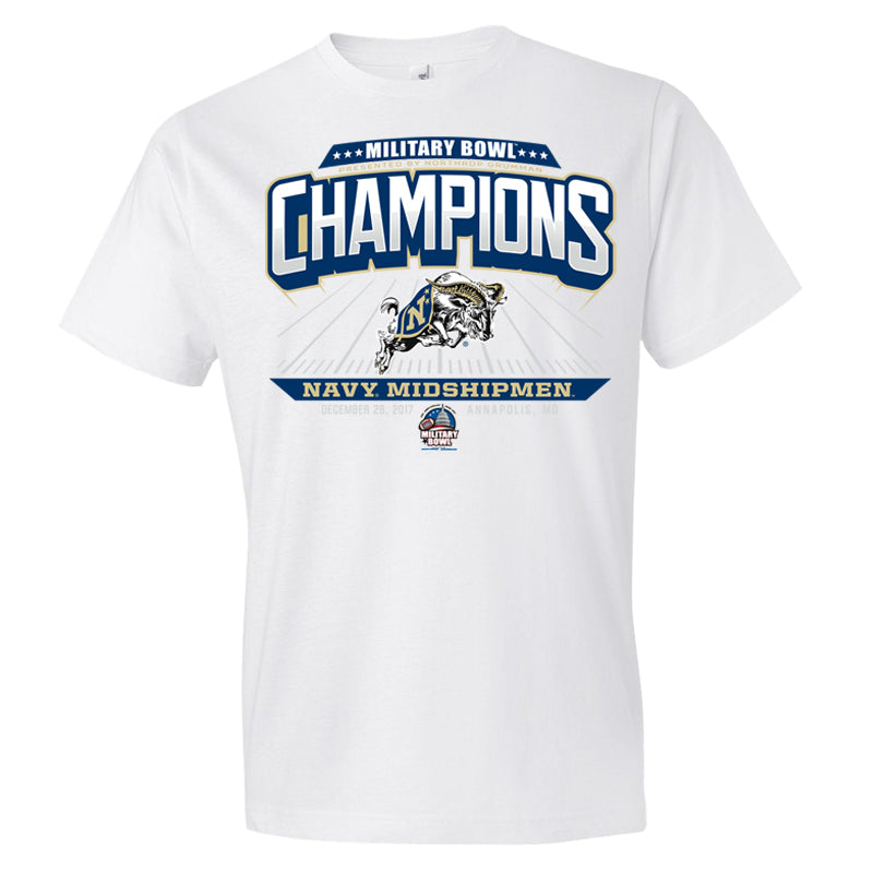 2017 Military Bowl Champions Short Sleeve Cotton Tee