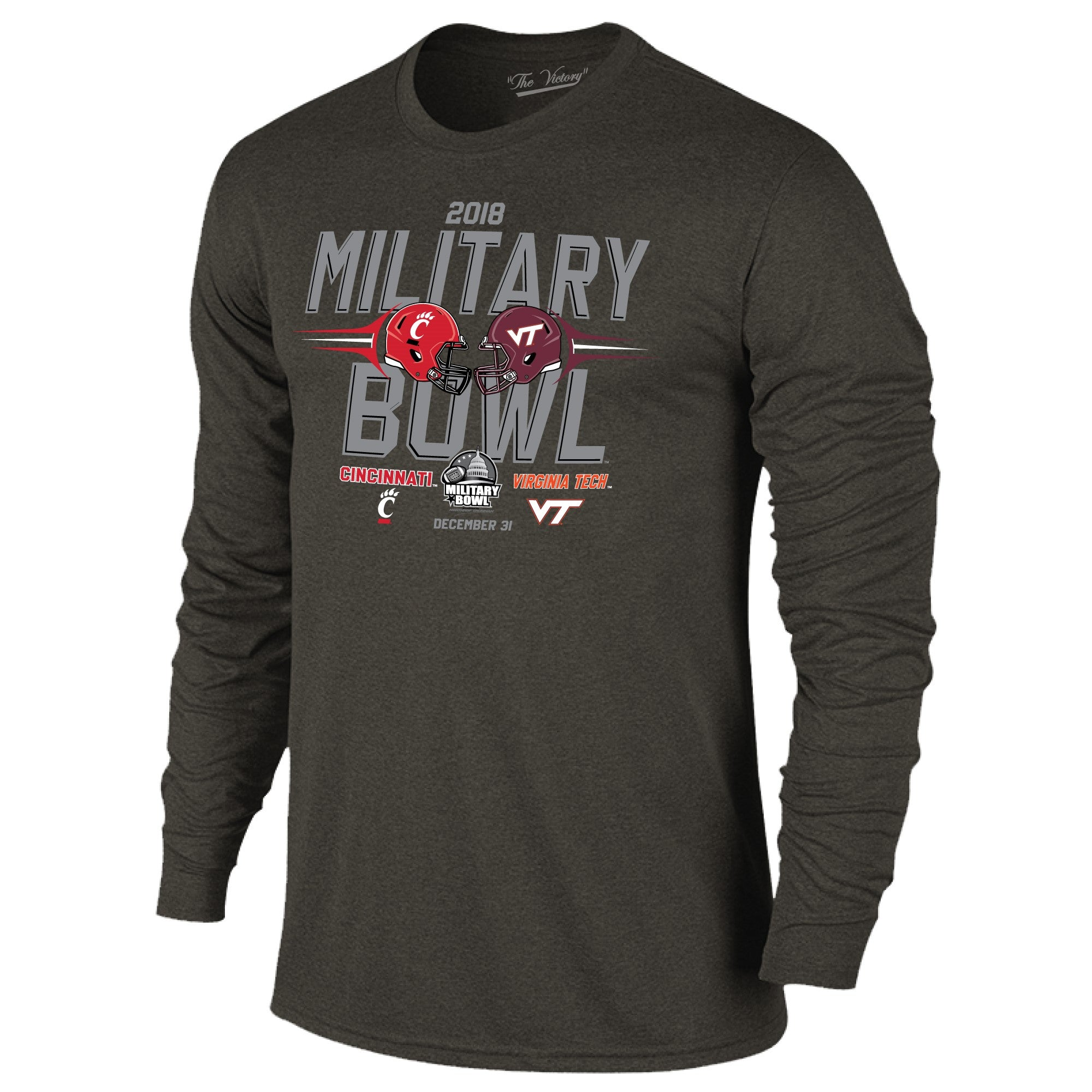 Military Bowl Virginia Tech Vs. Cincinnati Long Sleeve The Victory Tee Shirt by Retro Brand