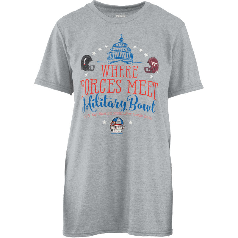 Military Bowl Pressbox Virginia Tech Vs. Cincinnati Women's Tee Shirt
