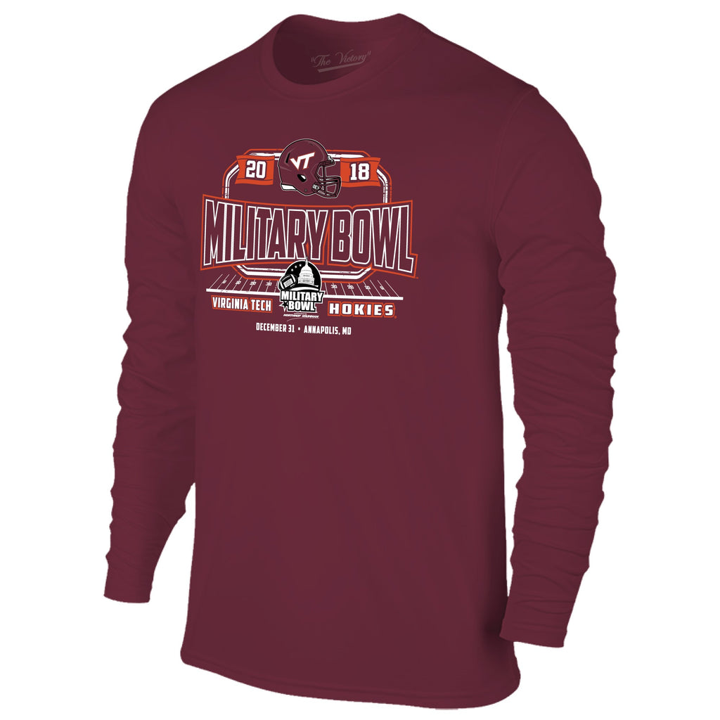 Military Bowl Virginia Tech Long Sleeve The Victory Tee Shirt by Retro Brand
