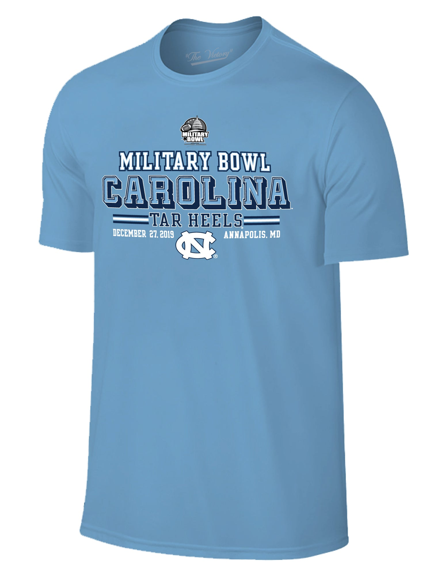 North Carolina Tar Heels 2019 Military Bowl Short Sleeve T-Shirt