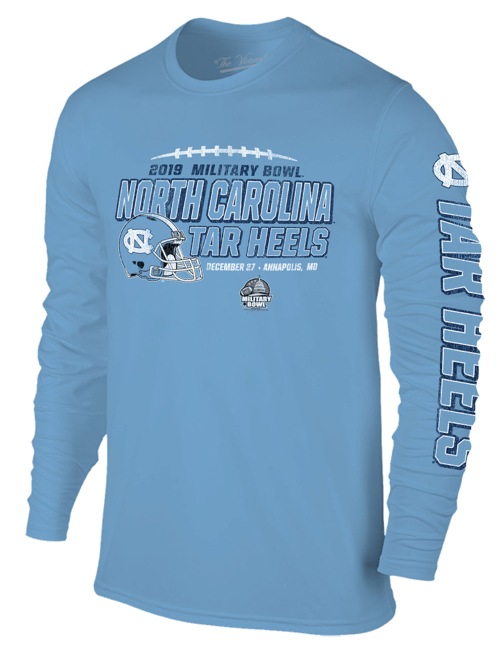 2019 Military Bowl North Carolina Tar Heels Long Sleeve T-Shirt