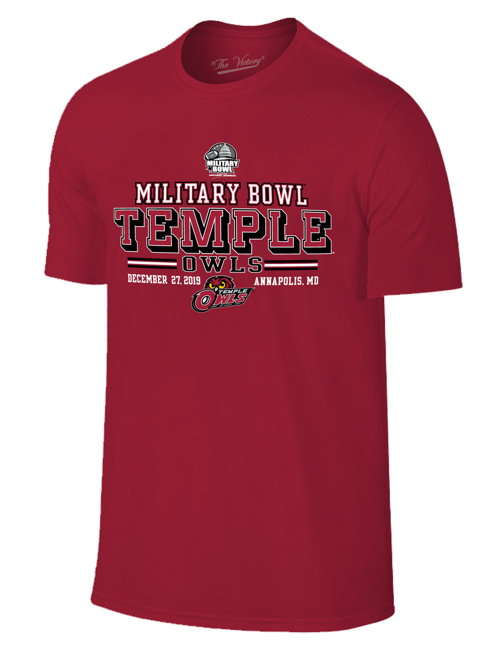 Temple Owls 2019 Military Bowl Short Sleeve T-Shirt