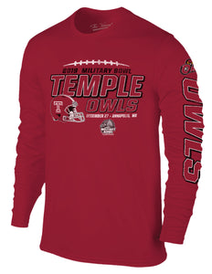 Temple Owls 2019 Military Bowl Long Sleeve T-Shirt