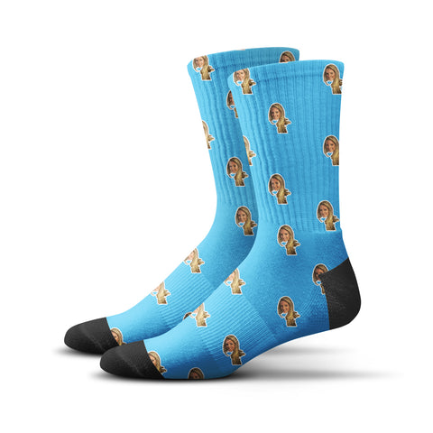 Custom Human Socks – Blue