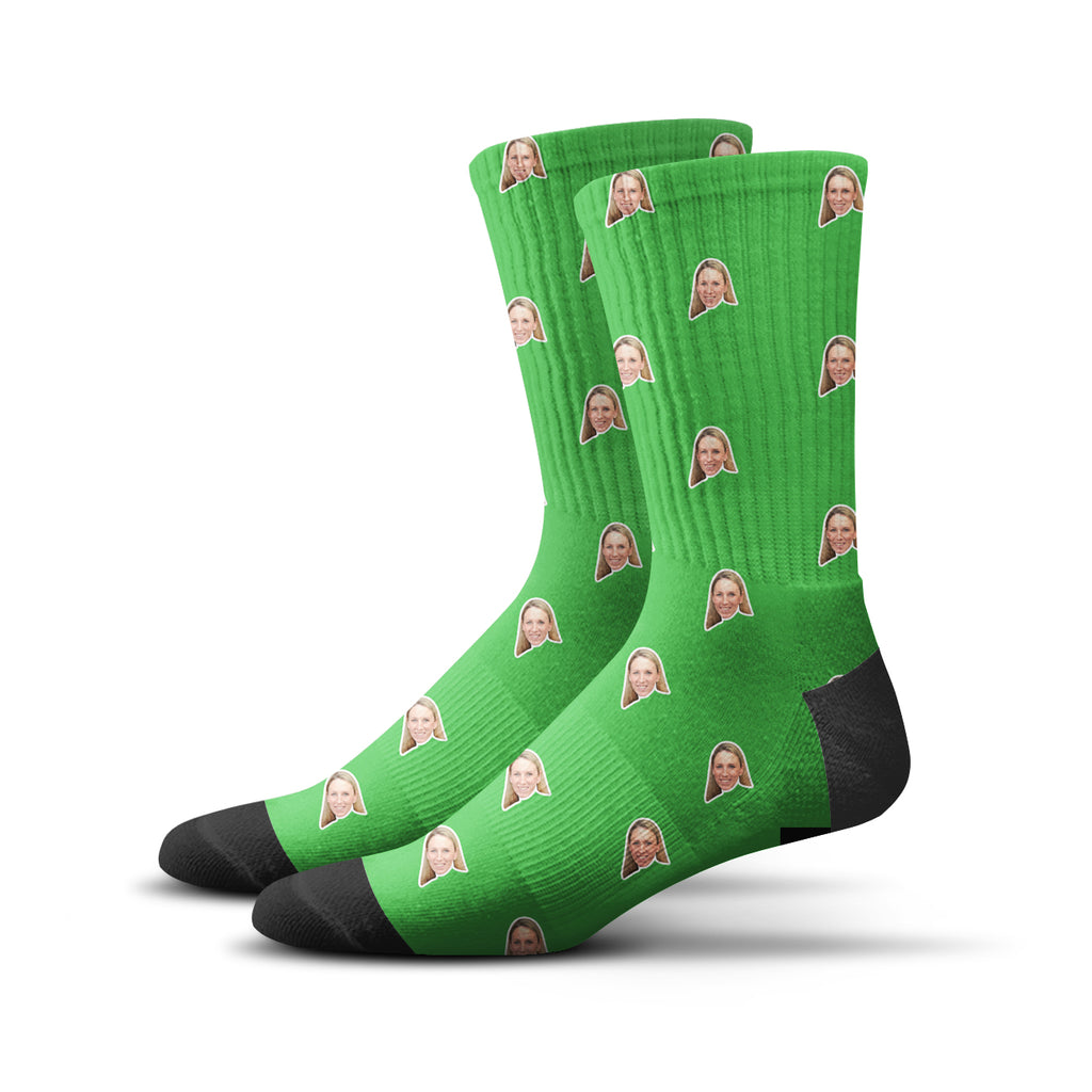 Custom Human Socks – Green